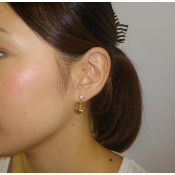 Sailor moon Silver925 pierce Gold coarting