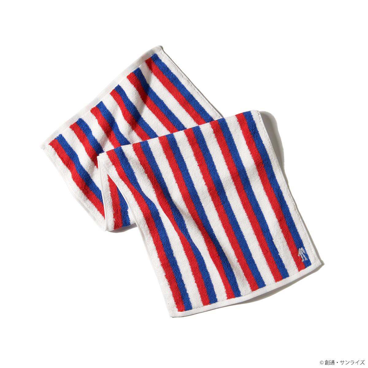 今治毛巾 紅白藍條紋圖樣