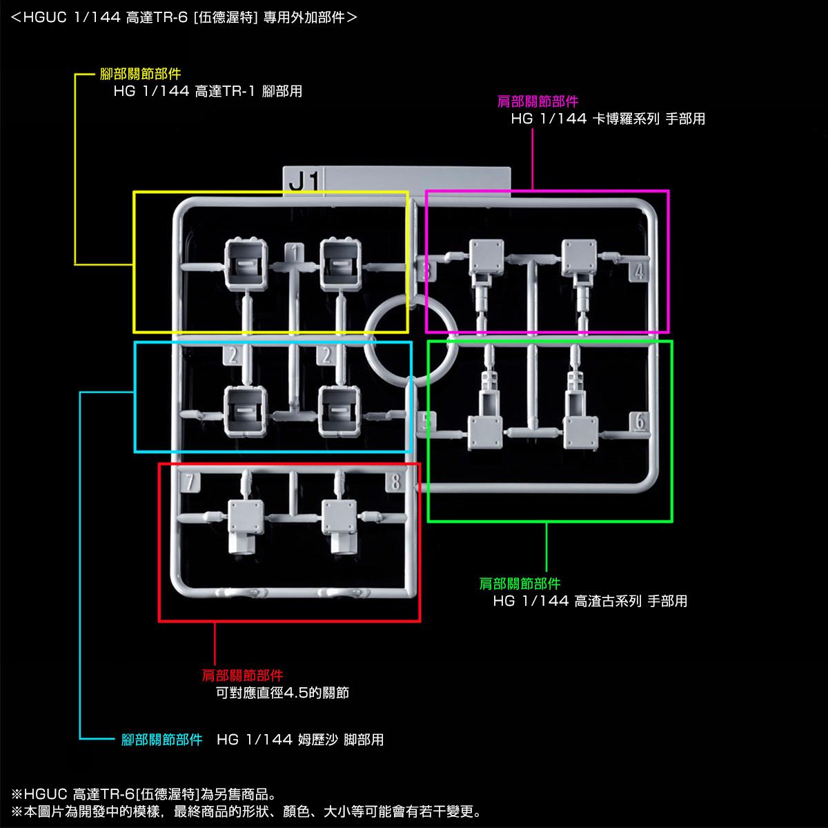 HG 1/144 GUNDAM TR-1 [HAZEL CUSTOM] & EXPANSION PARTS SET for GUNDAM TR-6 [2019年9月發送]