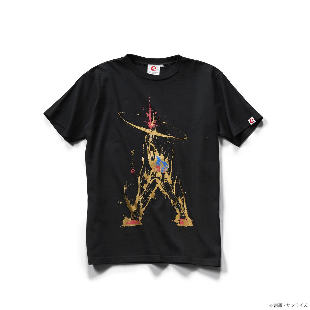 STRICT-G JAPAN 「機動戰士鋼彈」水墨筆觸風 貫穿 T恤  黑