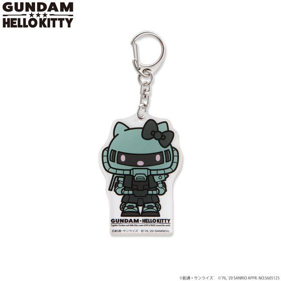 Gundam×Hello kitty  Acrylic Charm keychain