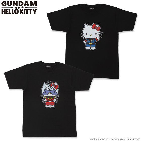 Gundam×Hello kitty  T-shirt
