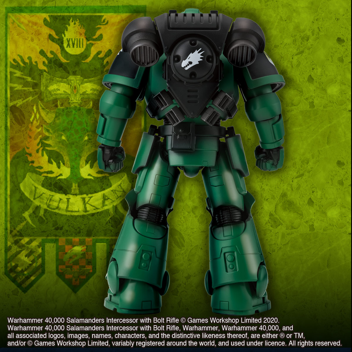 WARHAMMER 40,000 SALAMANDERS INTERCESSOR WITH BOLT RIFLE