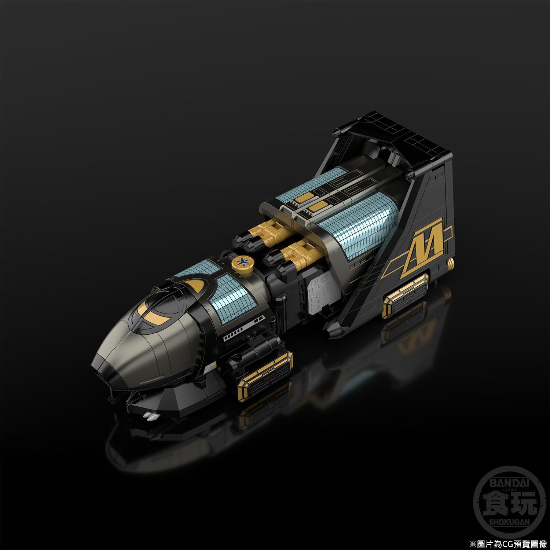 SUPER MINI PLASTIC MODEL BLACK MAX VICTORY ROBO W/O RAMUNE