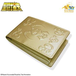 GOLD CLOTH BOX BUSINESS CARD HOLDER CAPRICORNUS