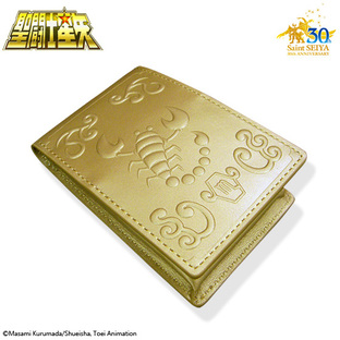 GOLD CLOTH BOX BUSINESS CARD HOLDER SCORPIO