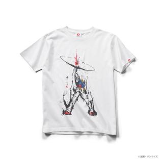 STRICT-G JAPAN 「機動戰士鋼彈」水墨筆觸風 貫穿 T恤 白