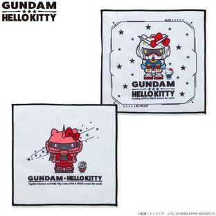 鋼彈 VS Hello Kitty 和解企劃 小方巾