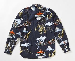 STRICT-G JP 「機動戰士Z鋼彈」  決戰 THE・O 和風花襯衫