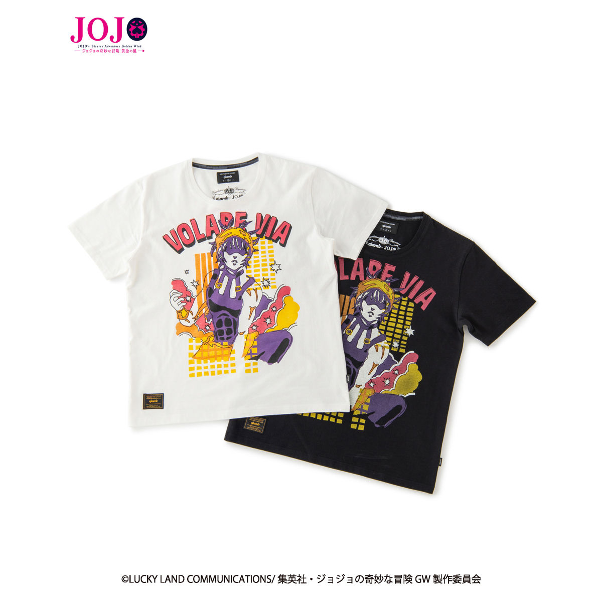 JoJo's Bizarre Adventure: Golden Wind × glamb collaboration