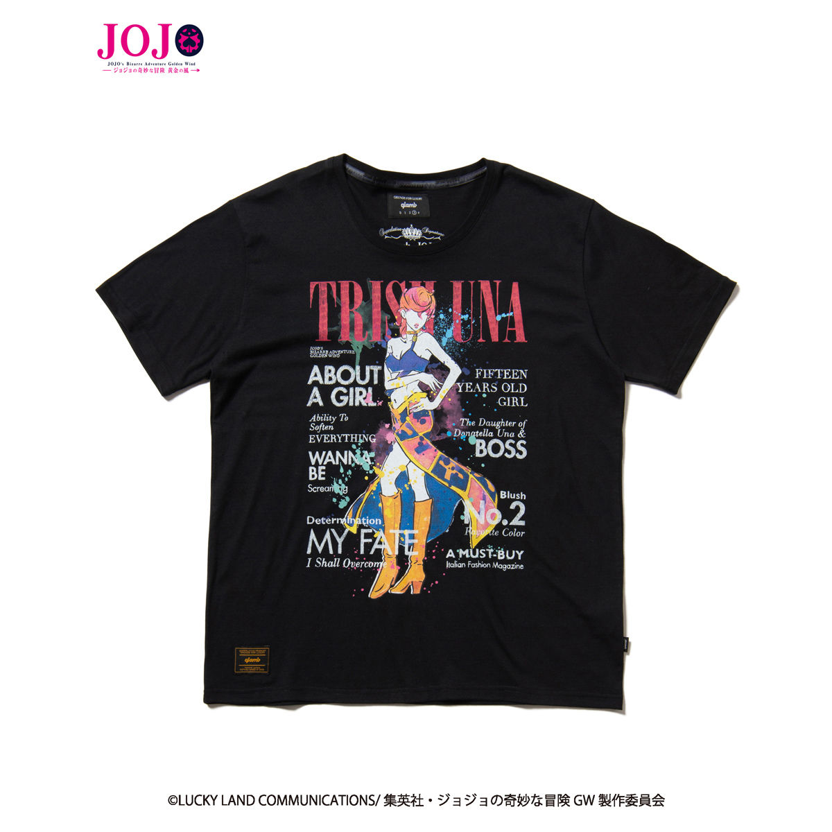 Trish Una T-shirt—JoJo's Bizarre Adventure: Golden Wind/glamb Collaboration