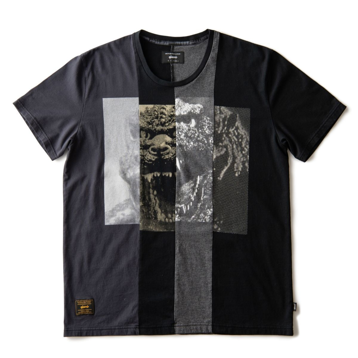 Spliced T-shirt—Godzilla/glamb Collaboration
