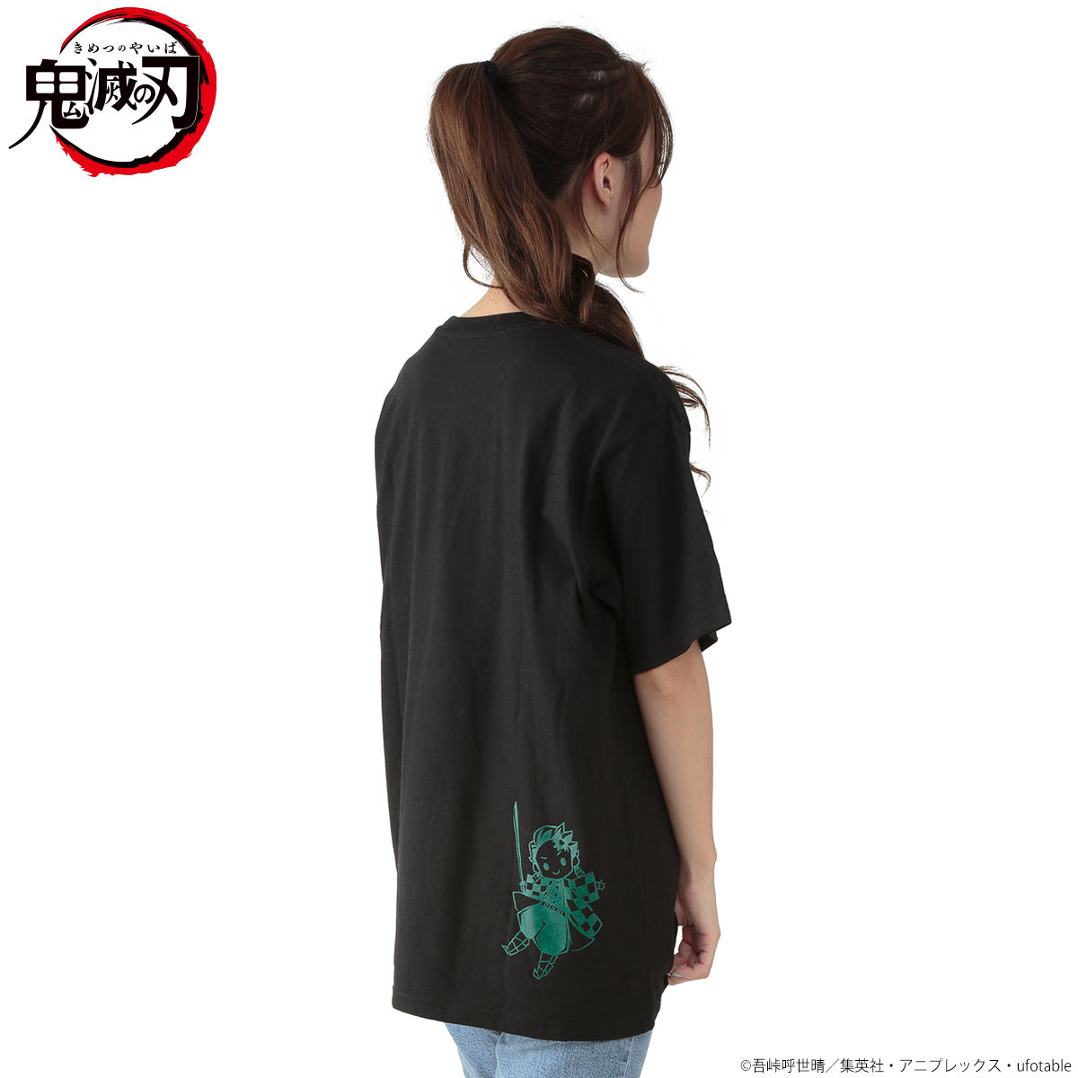 Super-Deformed Characters Black Color T-shirt—Demon Slayer: Kimetsu no Yaiba