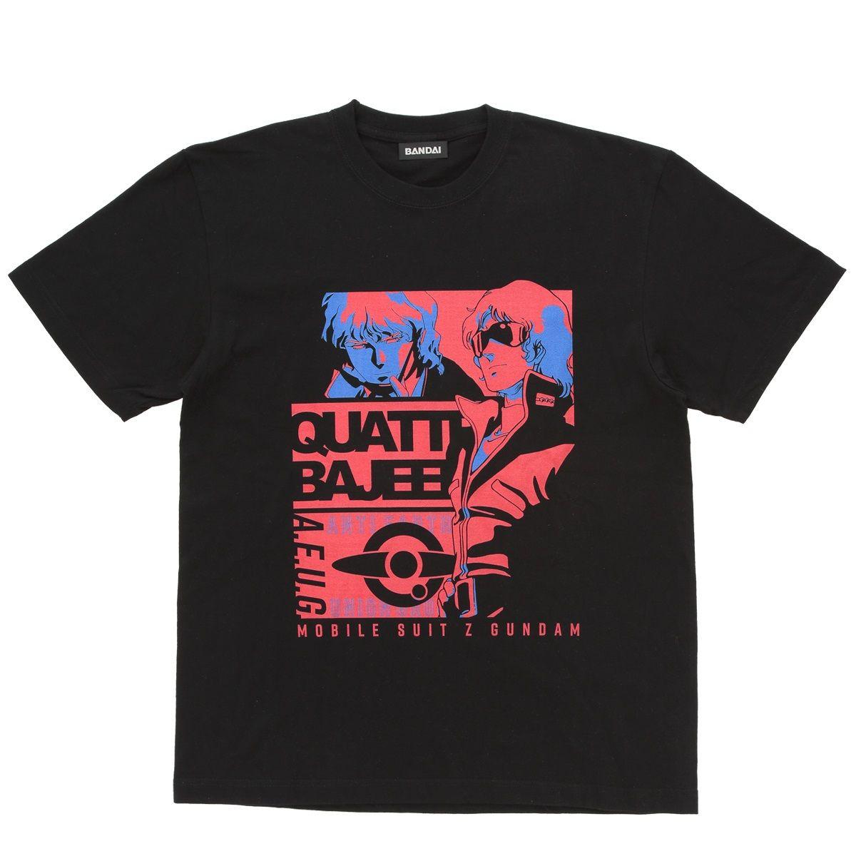 Mobile Suit Zeta Gundam Quattro Bajeena Tricolor-themed T-shirt
