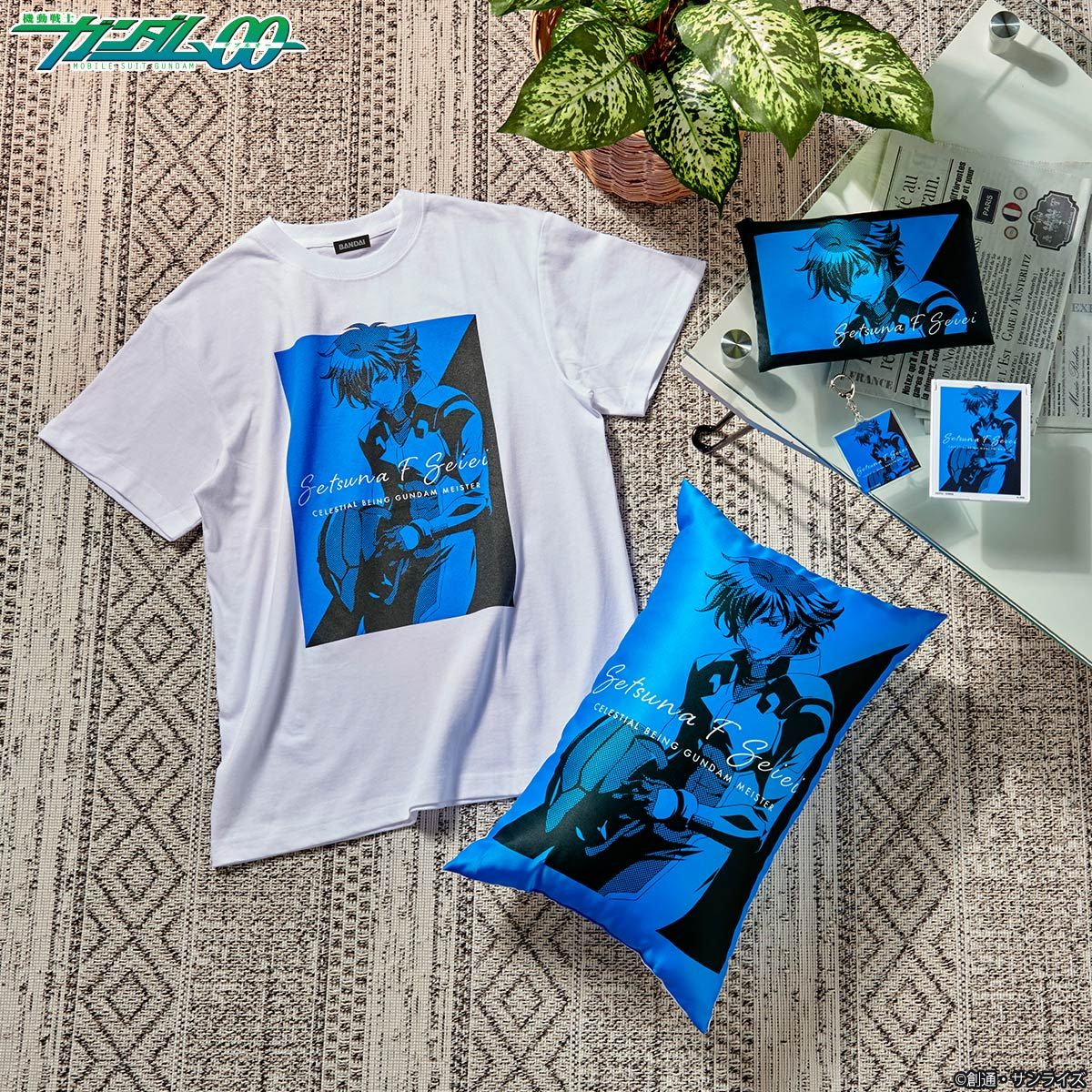 Mobile Suit Gundam 00 Bicolor-themed Pillow