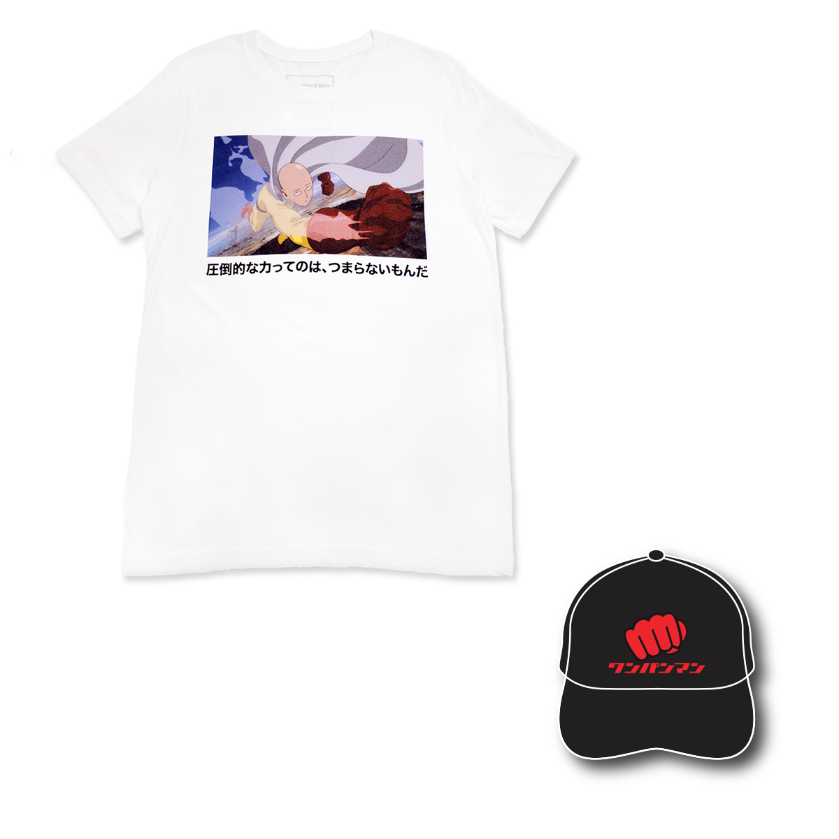 One-Punch Man Screenshot White Ver. T-Shirt Bundle [Mar 2021 Delivery]