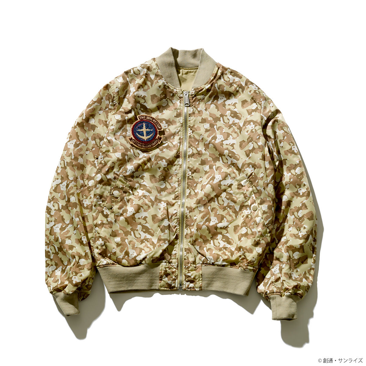 STRICT-G x ALPHA Light MA-1 Bomber Jacket - Mobile Suit Gundam: The 08th MS Team 08th Team Version