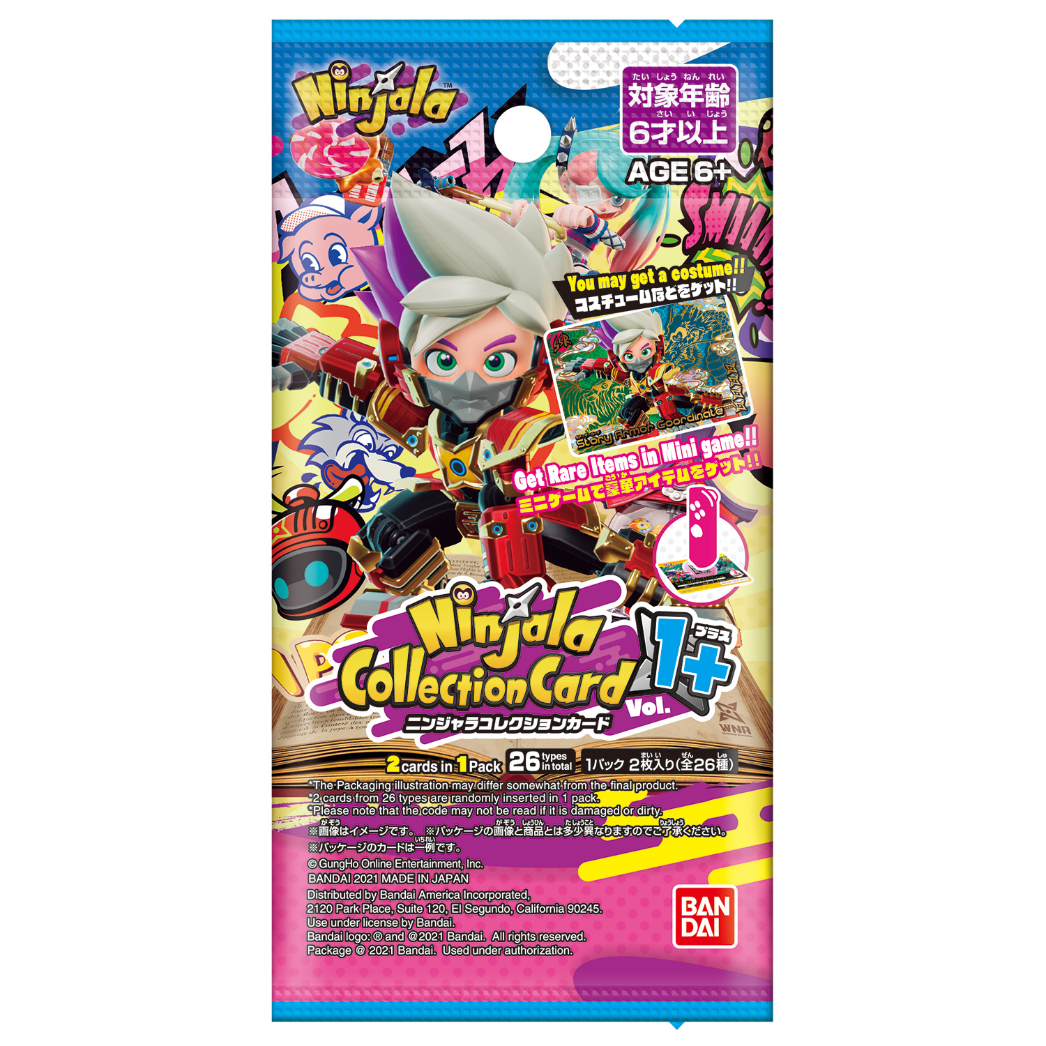 NINJALA COLLECTION CARD 1+    10 pack set [May 2021 Delivery]