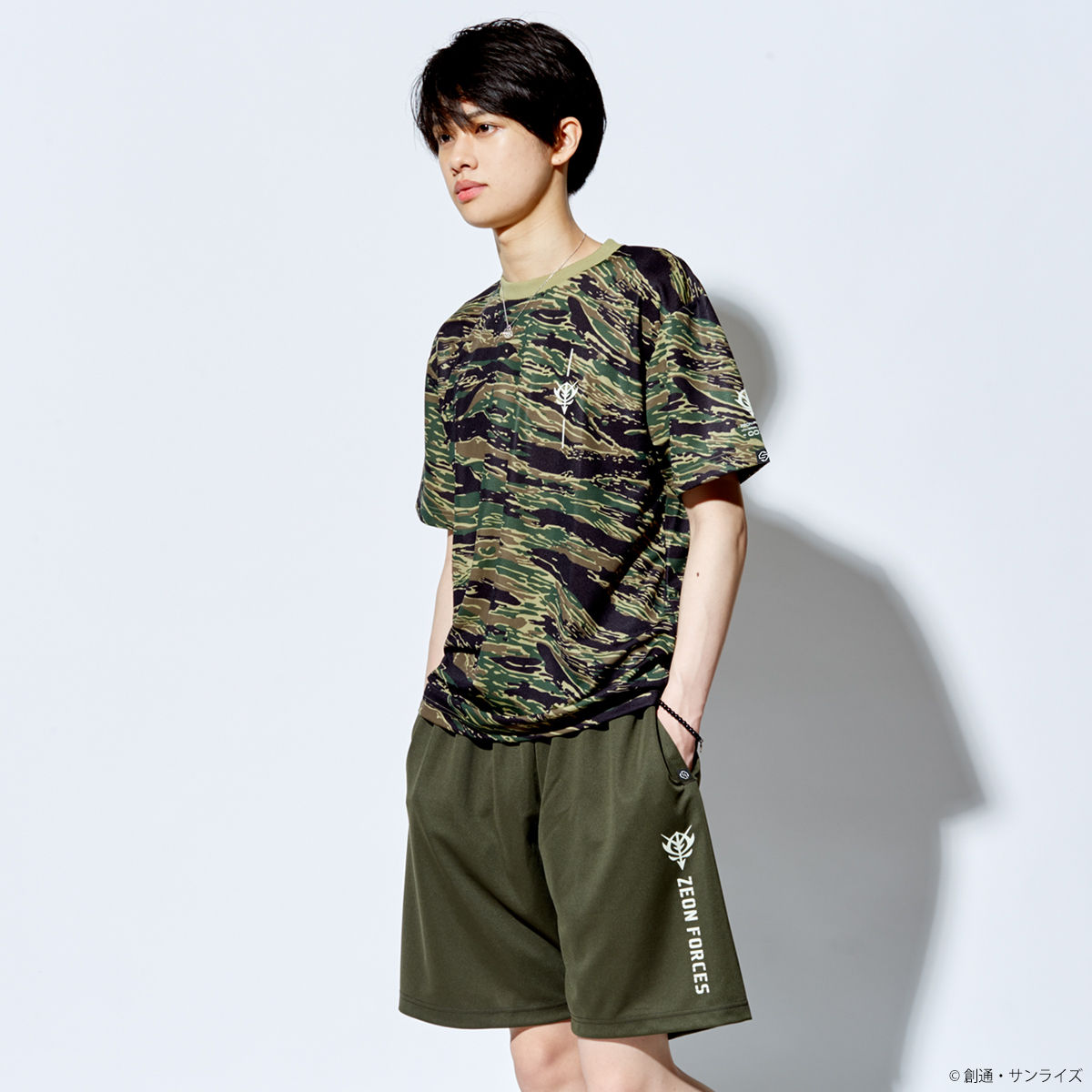 Zeon Camo Shirt—Mobile Suit Gundam/STRICT-G Collaboration
