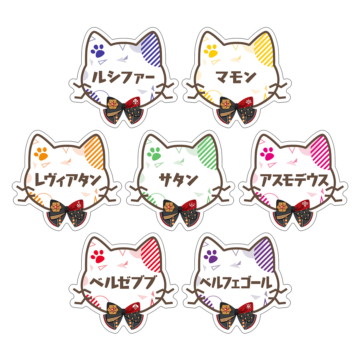 「Obey Me! in NAMJATOWN」Name Badge Collection  (Complete Set of 7)