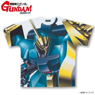 Mobile Suit Gundam Char's Counterattack Full Panel T-shirt MSN-03 (Guney Dedicated Machine)