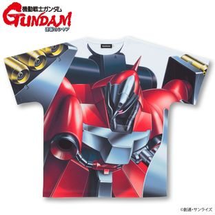 Mobile Suit Gundam Char's Counterattack Full Panel T-shirt MSN-03(Quess dedicated machine)