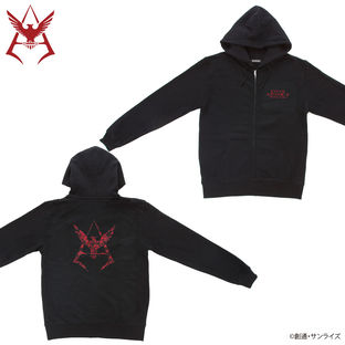 Mobile Suit Gundam Camouflage Pattern Char Aznable Emblem Hoodie