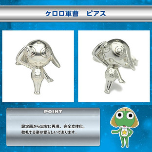 Keroro Pierced Earrings—Sgt. Frog (Keroro Gunso)/JAM HOME MADE Collaboration