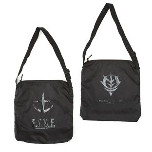 Mobile Suit Gundam Black Emblem Crossbody Bag
