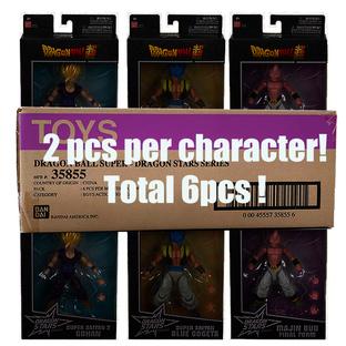 Dragon Stars Collector Value Pack: Super Saiyan 2 Gohan(x2), Super Saiyan Blue Gogeta(x2), Majin Bu Final Form(x2) set