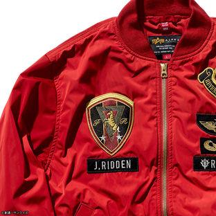 STRICT-G x ALPHA Light MA-1 Bomber Jacket - Mobile Suit Gundam Johnny Ridden Version