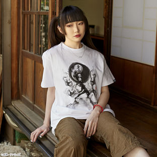 Undefeated of the East Ink Wash Painting T-shirt—Mobile Fighter G Gundam/STRICT-G Collaboration