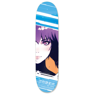 GHOST IN THE SHELL: SAC_2045 Motoko Kusanagi Skateboard Deck [October 2021 Delivery]