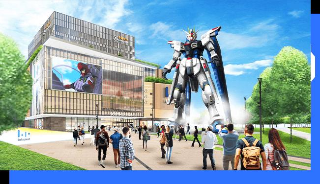 The life-size Freedom Gundam
