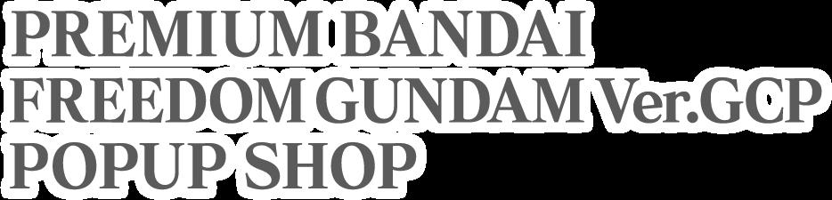 PREMIUM BANDAI FREEDOM GUNDAM Ver.GCP POPUP SHOP