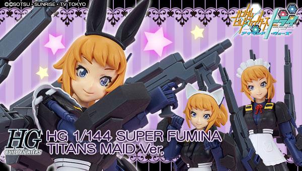 HGBF 1//144 Super Fumina Titans Maid Ver Bandai