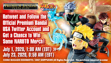 NARUTO Share to Win Sweepstakes!