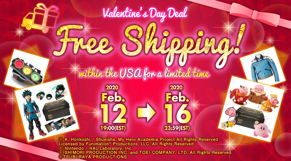 Valentine's Day Deal Free Shipping! within the USA for a limited time