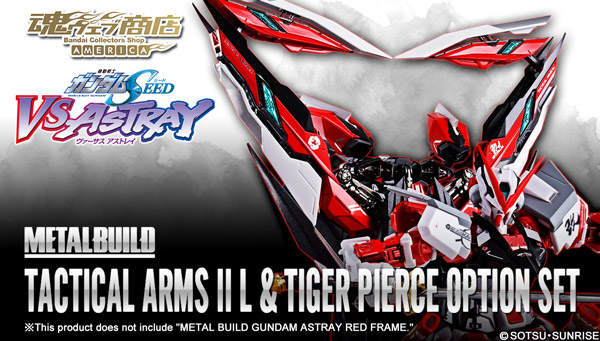 Tamashii Web Shop Singapore Premium Bandai Singapore  METAL BUILD TACTICAL ARMS II L & TIGER PIERCE OPTION SET